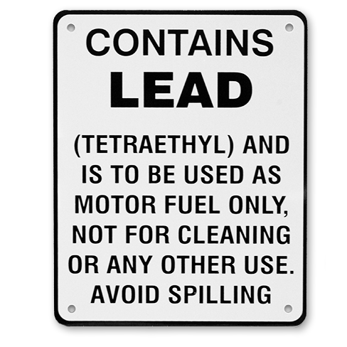 CONTAINS LEAD SIGN