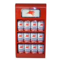OIL CAN WALL MOUNT RACK (RED)