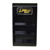 OIL CAN WALL MOUNT RACK (BLACK)