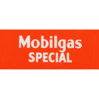 """MOBILGAS SPECIAL """"RED"""" AD GLASS"""
