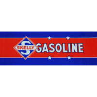 SKELLY GASOLINE AD GLASS