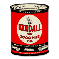 """KENDALL """"OIL CAN"""" SHAPED SIGN"""