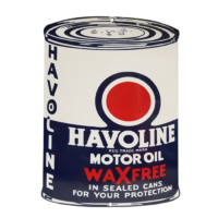 """HAVOLINE """"OIL CAN"""" SHAPED SIGN"""