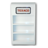 OIL CAN WALL MOUNT RACK (WHITE)