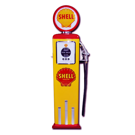 8 Ball Electric Pump With Base (Yellow & Red)