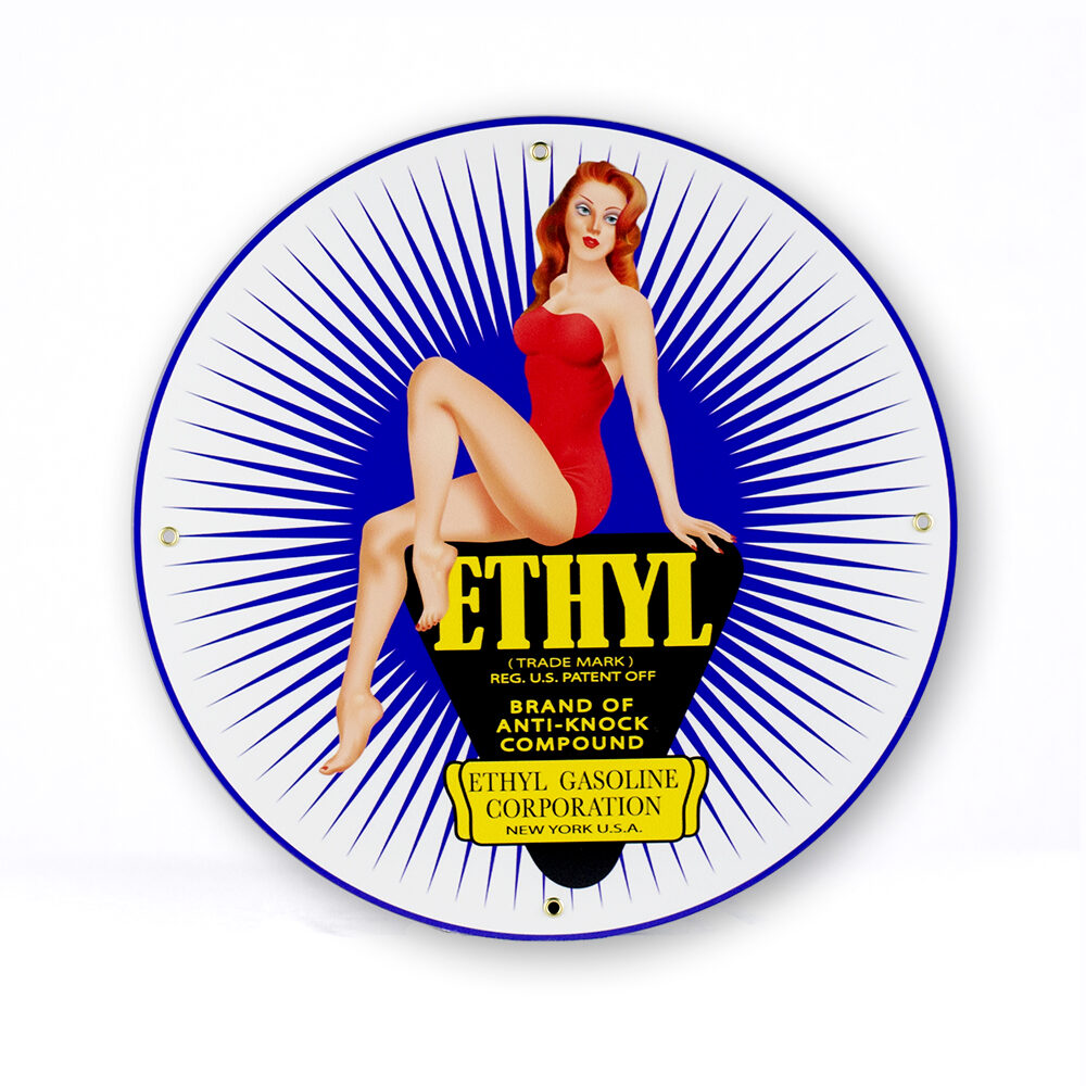 "Ethyl Pin-Up 12"" Sign"