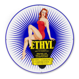 "ETHYL PIN UP GIRL 30"" SIGN"