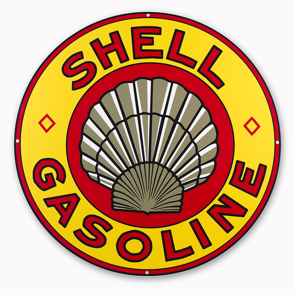 """SHELL GASOLINE 30"""" SIGN"""