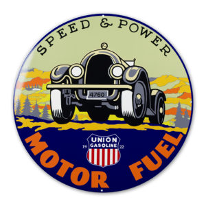 "UNION MOTOR FUEL 30"" SIGN"