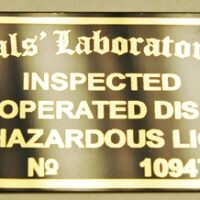POWER OPERATED UNIVERSALS' LABORATORIES TAG