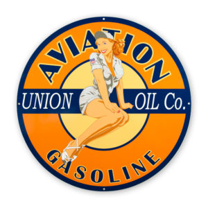 "UNION AVIATION PIN-UP 30"" SIGN"