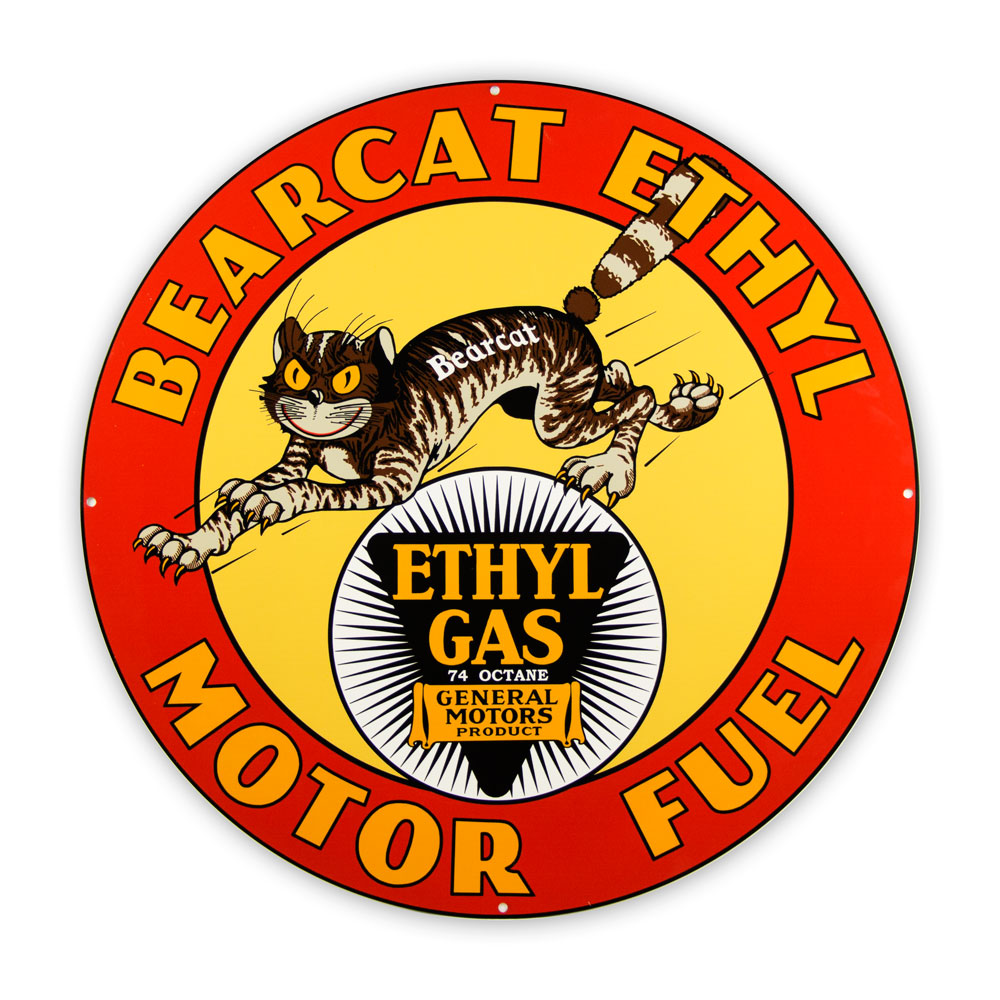 "BEARCAT ETHYL 30"" SIGN"