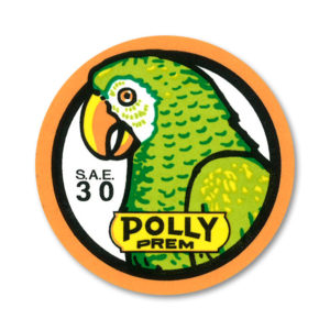 POLLY PREM MOTOR OIL BOTTLE DECAL