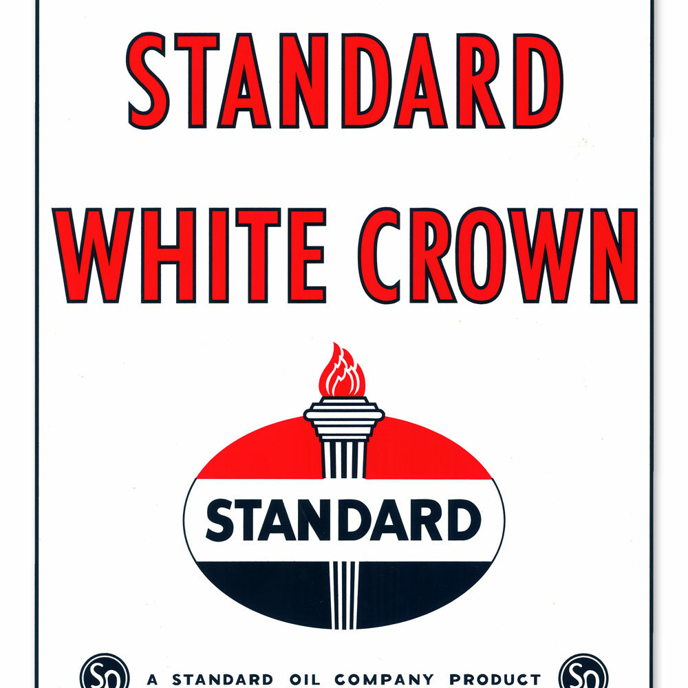 STANDARD WHITE CROWN DECAL