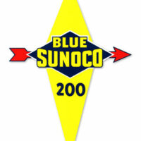 BLUE SUNOCO 200 DECAL