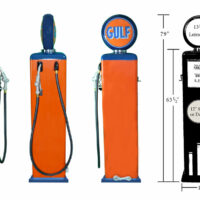 8 Ball Electric Pump With Base (Orange & Blue)