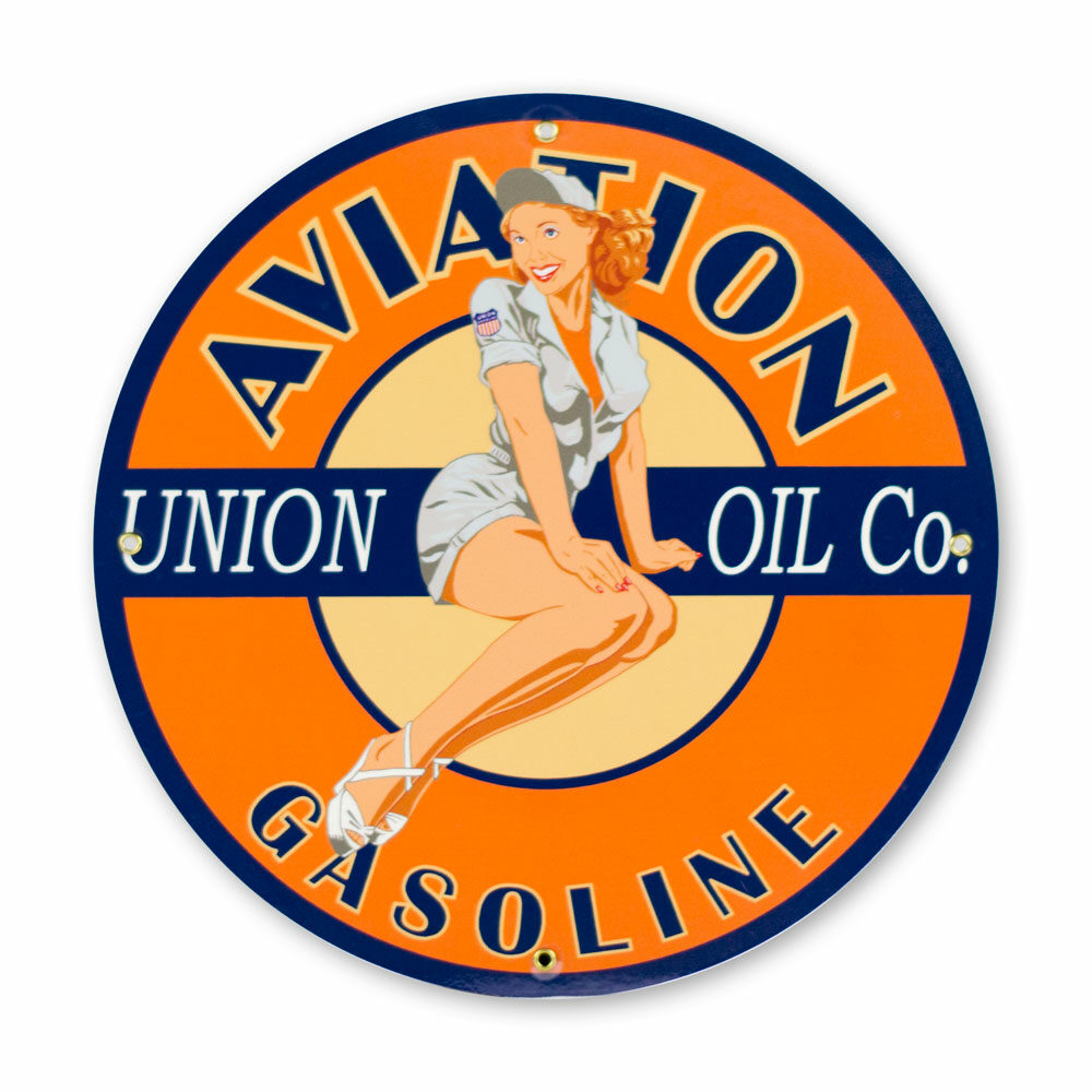 """UNION AVIATION PIN-UP 12"""" SIGN"""