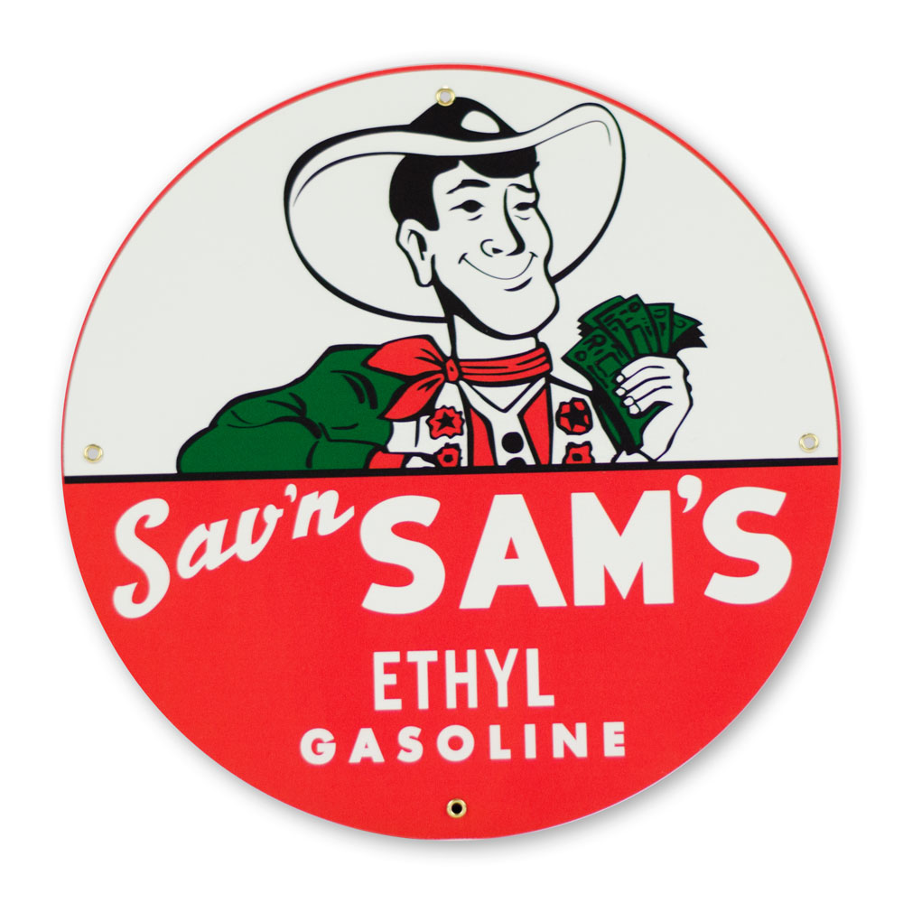"SAV'N SAM'S 12"" SIGN"