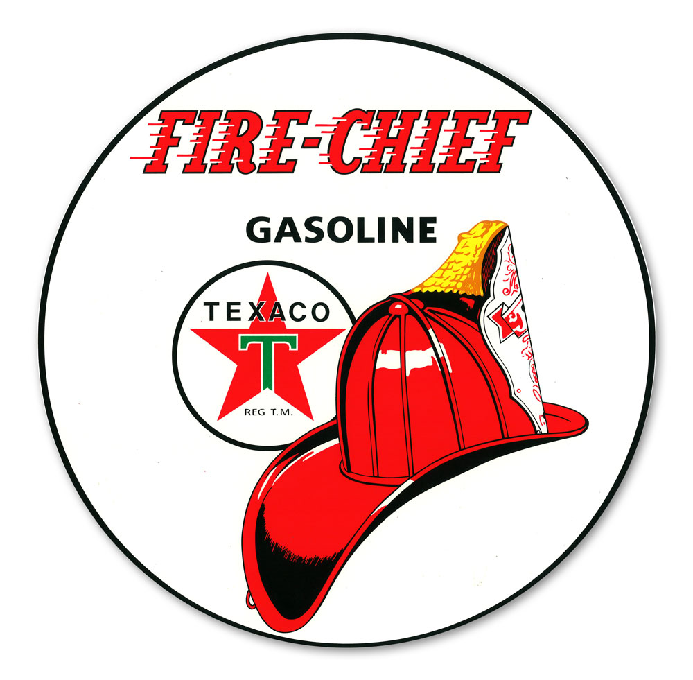 TEXACO FIRE-CHIEF GASOLINE DECAL