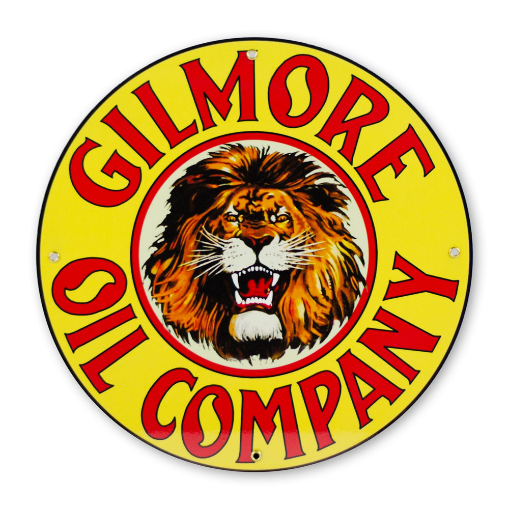 "GILMORE OIL 12"" SIGN"