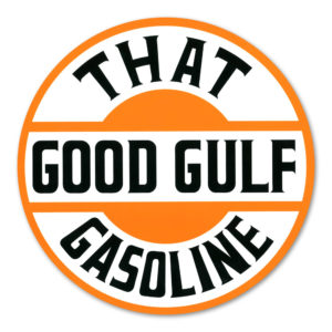 "GULF ""GOOD GULF"" GASOLINE DECAL"