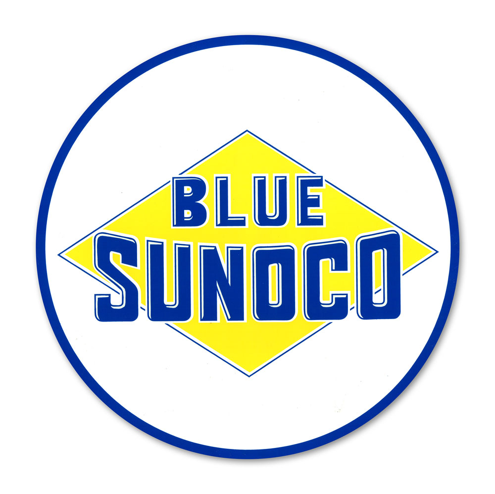 BLUE SUNOCO DECAL