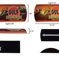 GULF NO-NOX LIGHTED SIGN