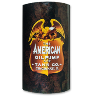 AMERICAN OIL PUMP LIGHTED SIGN