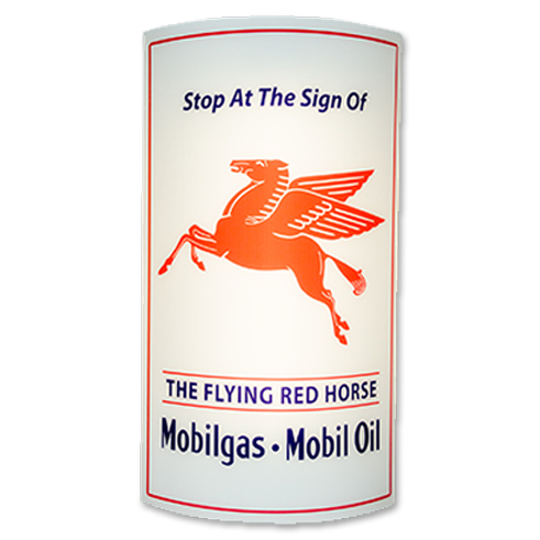 MOBIL GAS LIGHTED SIGN