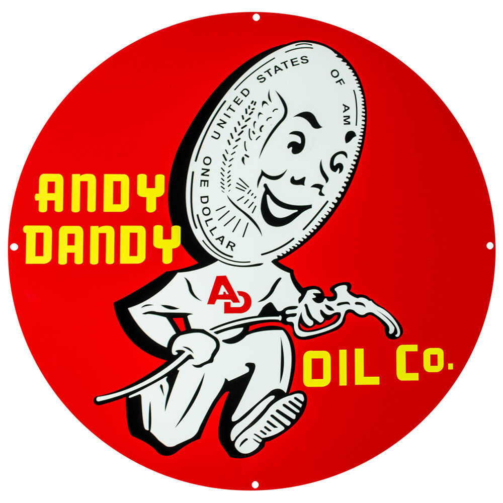 """ANDY DANDY 12"""" SIGN"""