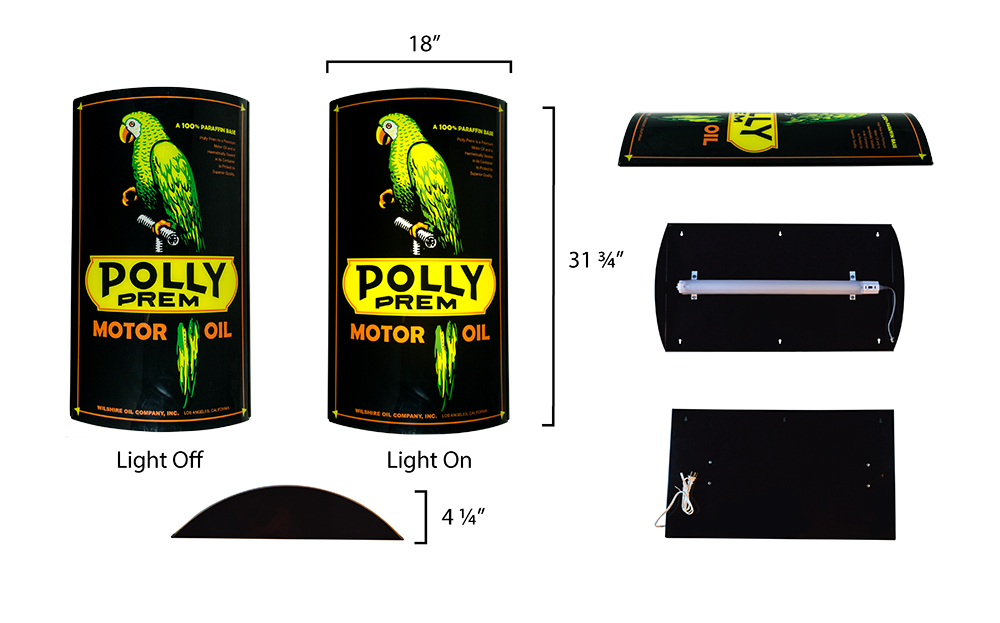 POLLY BLACK LIGHTED SIGN