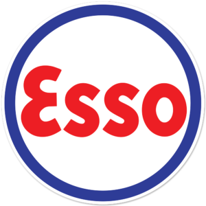 ESSO BLOCK ROUND DECAL