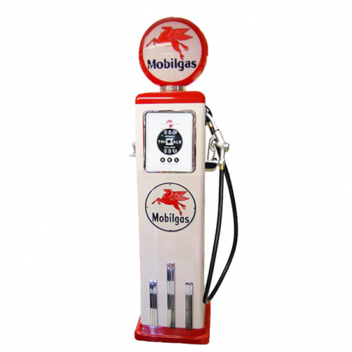 8 Ball Electric Pump With Base - (White & Red)