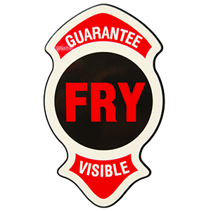 FRY GUARANTEE VISIBLE DECAL