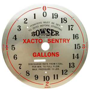 BOWSER XACTO SENTRY CLOCK FACE