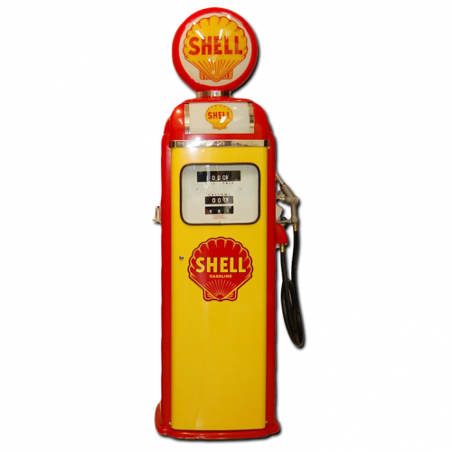 NATIONAL 360 COMPUTER FACE PUMP - YELLOW & RED