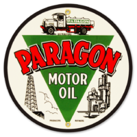 "PARAGON MOTOR OIL 9"" SIGN"