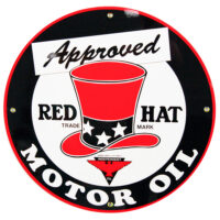 """RED HAT APPROVED 12"""" SIGN"""