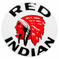 """RED INDIAN 30"""" SIGN"""