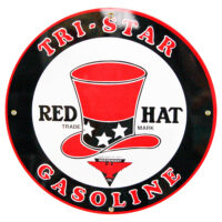 """TRI-STAR RED HAT 12"""" SIGN"""