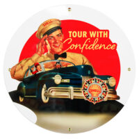 """SHELL CONFIDENCE 12"""" SIGN"""
