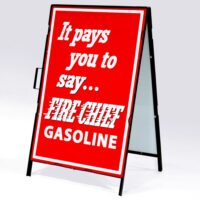 TEXACO FIRE CHIEF IT PAYS DRIVE WAY SIGN