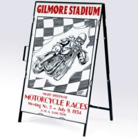 GILMORE STADIUM MOTORCYCLE RACES DRIVE WAY SIGN
