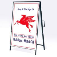 MOBILE GAS DRIVE WAY SIGN